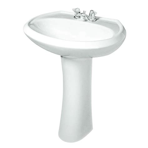 Gerber Maxwell Pedestal Combo Bathroom Sink In White