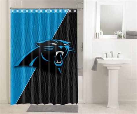 carolina panthers shower curtain carolina panthers nfl football 580 shower curtain
