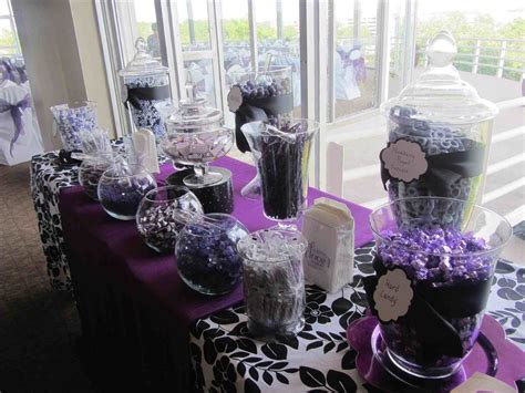 wedding table decorations purple and black purple and black wedding centerpieces ideas