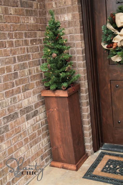 diy 25 christmas tree plant stand shanty 2 chic