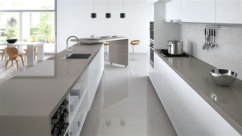 benchtop bench dark benchtop and light grey splashback kitchen