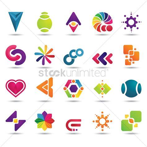 Logo Design Elements Rar | set of abstract logo elements vector image 1629080