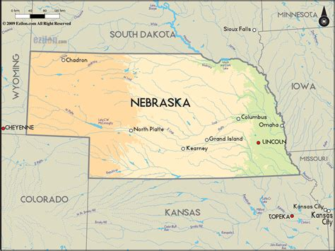 lincoln nebraska timezone geographical map of nebraska and nebraska geographical maps