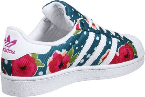 adidas superstar j w shoes blue pink white weare shop