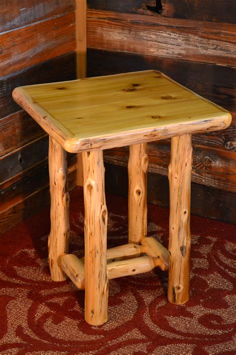 Timberland Cedar Log Open Nightstand Rustic Furniture