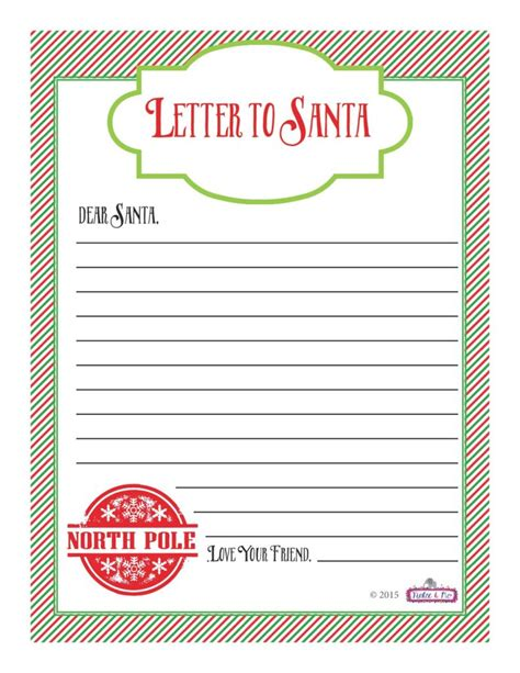 printable santa letters christmas activities