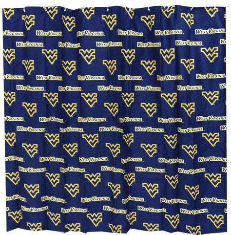 wvu curtains ncaa west virginia mountaineers shower curtain wvu