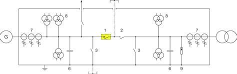 Single Line Diagram Circuit Breaker