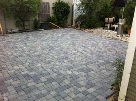 paver backyard large patio pavers patio design ideas