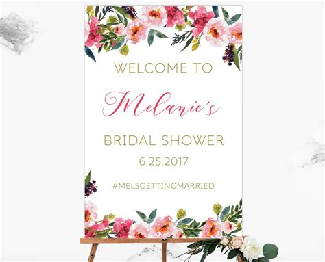 welcome sign template bridal shower welcome sign template gallery template