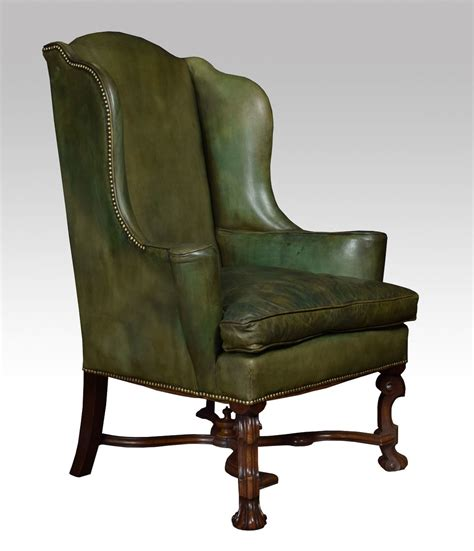 wingback armchairs william and mary style wingback armchair antiques atlas