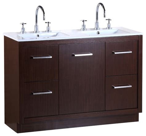 48 inch double bathroom vanity bellaterra 48 inch double sink vanity contemporary