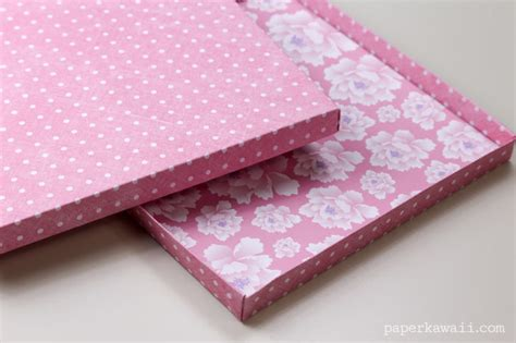 How To Make Your Own Origami Paper - origami paper storage box diy paper kawaii