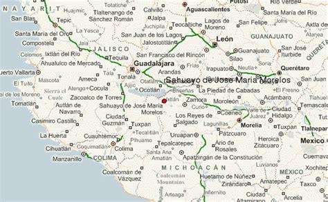 de michoacan mexico map sahuayo de jose maria morelos location guide