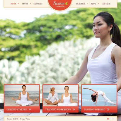 bootstrap templates for yoga yoga website templates