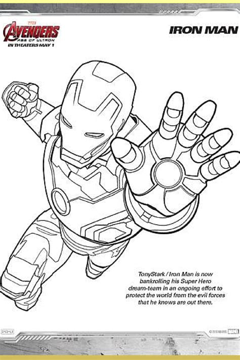 Avenger Coloring Page free coloring pages of the team