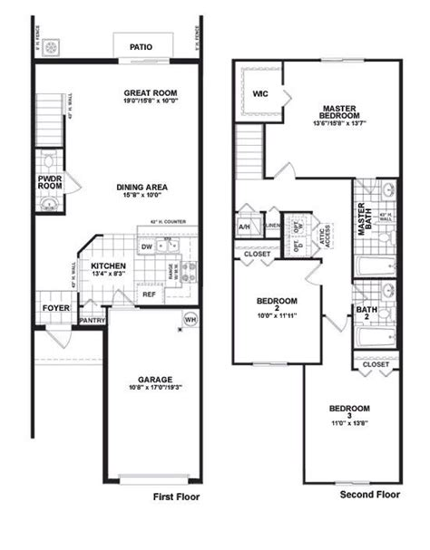 townhouse floor plans with garage martins crossing bloxham floor plan townhouse design
