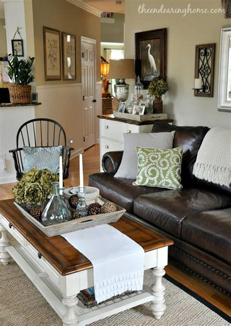 the endearing home family room leather neutral black white