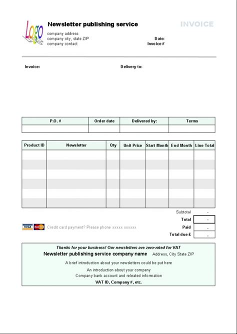 Libreoffice Invoice Template Invoice Exle Office Billing Template