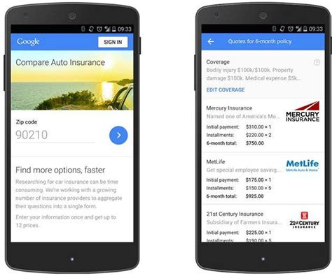 Google introduces compare tool for auto insurance in