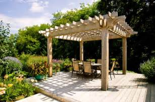 Covered Pergola Plans Free by Covered Pergola Plans Deck Traditional With Arbour