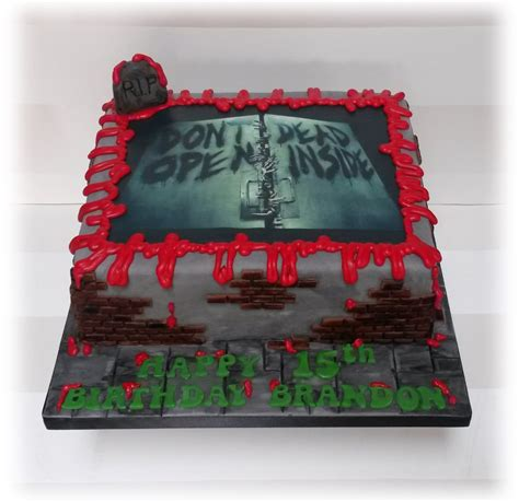 zombie themed birthday cakes dawn of the dead birthday cake bakealous