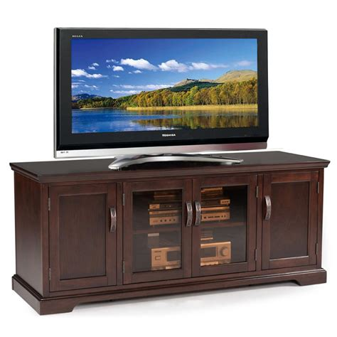 Cabinet For 60 Inch Tv by Leick Westwood Cherry Hardwood Tv Stand 60