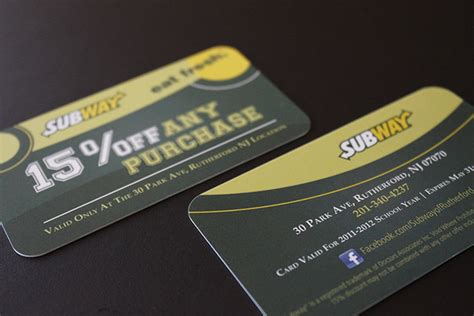 Subway Gift Card Discount - card discount 100 images coast 500 discount card prescription discount card by