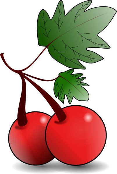 cherries fruit clip art  clkercom vector clip art