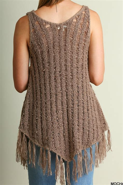 Top Usa Sweater 1 umgee usa fringe knit sweater top from by baretrees