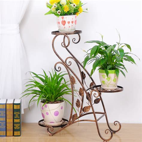 Pot Anggrek Dinding metal plant holder wrought iron plant stands flower holder