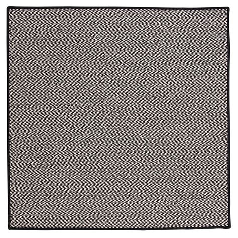 home decorators outdoor rugs home decorators collection solid black 8 ft x 8 ft
