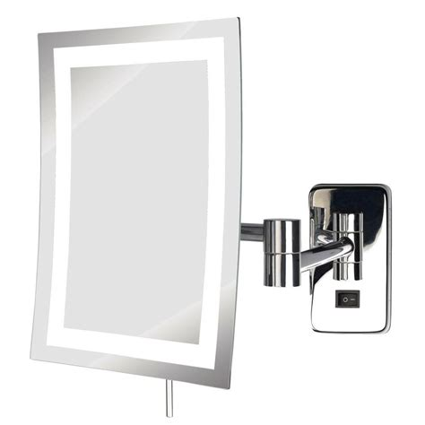 wall mounted makeup mirror simplehuman 13 8 in x 9 1 in wall mount lighted sensor