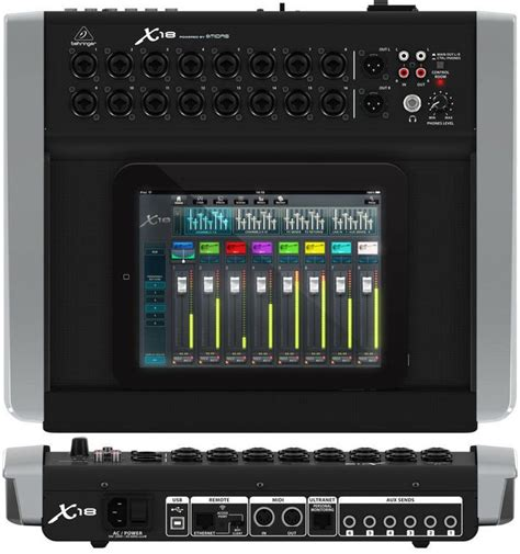 Mixer Digital Behringer X18 behringer x air x18 tablet controlled digital mixer