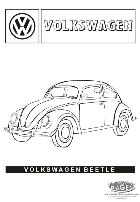 volkswagen car coloring page vw volkswagen beetle coloring cars my coloring page