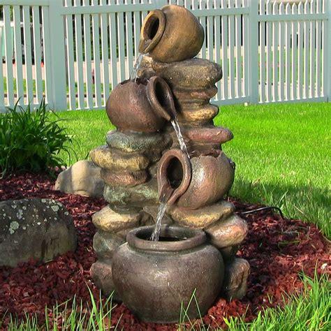 outdoor  indoor pitcher honey pots rock water fountain