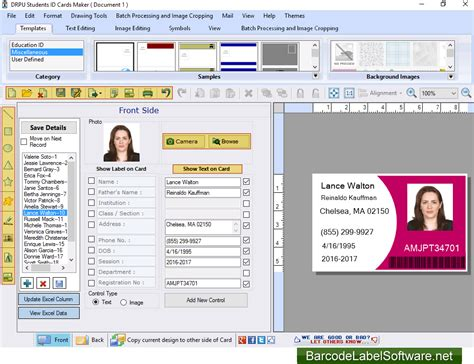 school id card machine school photo id cards maker 8 5 3 2 free software