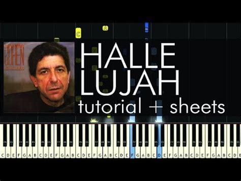 keyboard tutorial hallelujah leonard cohen hallelujah piano tutorial how to play