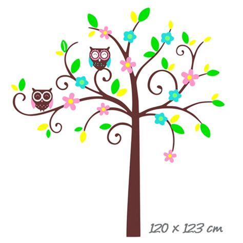 Nursery Tree Wall Stickers owl tree