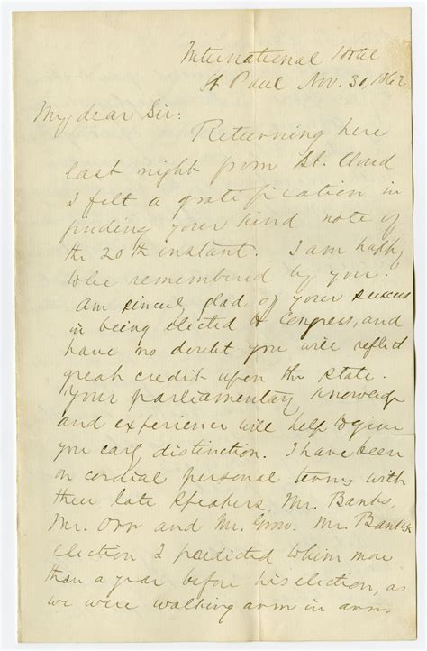 Letter Closing Until Then Letter From Of The 3rd Minnesota Held As A Confederate Prisoner Of War Until October