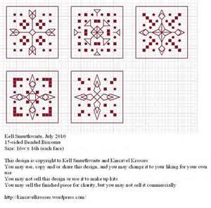 15 sided beaded biscornu kincavel krosses