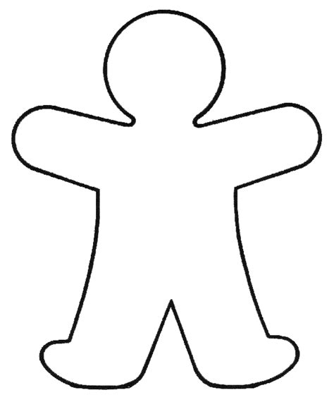 Outline Drawing Of A Person At Getdrawings Com Free For Personal Use Outline Drawing Of A Person Template For Kindergarten