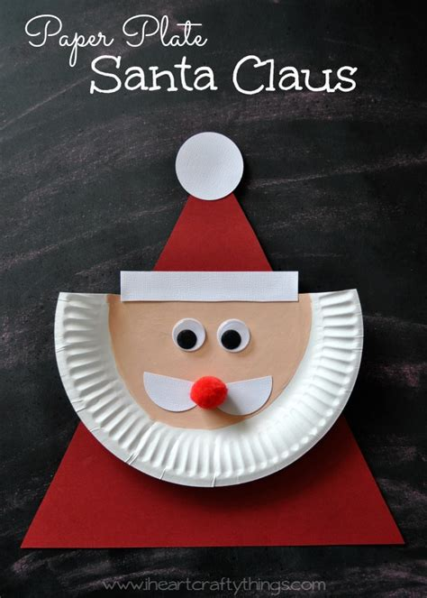 How To Make Paper Santa Claus - paper plate santa claus i crafty things