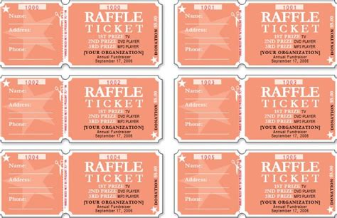 Raffle Ticket Templates Word Templates Docs Raffle Ticket Template Word