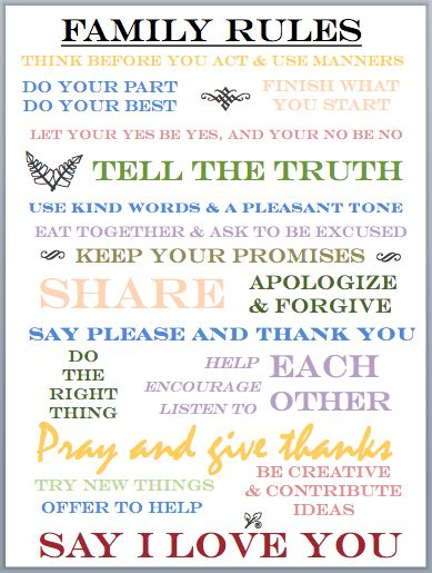 printable house rules template family house rules printable bing images