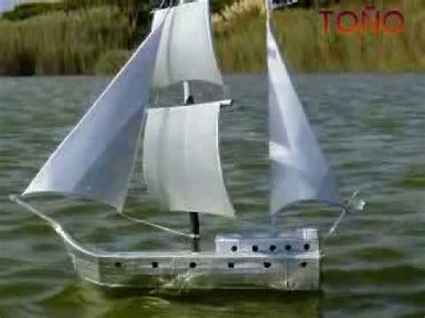 un barco hecho de botellas de plastico manualidades barcos con brik youtube