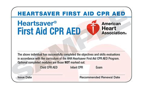 aha template for 3 card course completion card american association cpr card template invitation