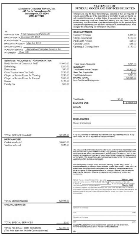 Funeral Home And Mortuary Software Products Sles Contract For Goods And Services Template