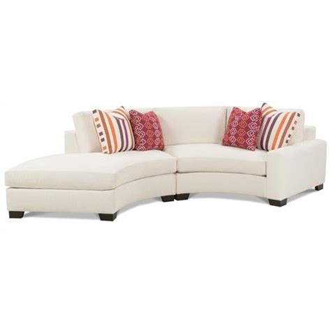 Curved Sectional Sofa With Chaise Rowe Fenwick Contemporary Two Curved Sectional Sofa With Raf Chaise Belfort Furniture