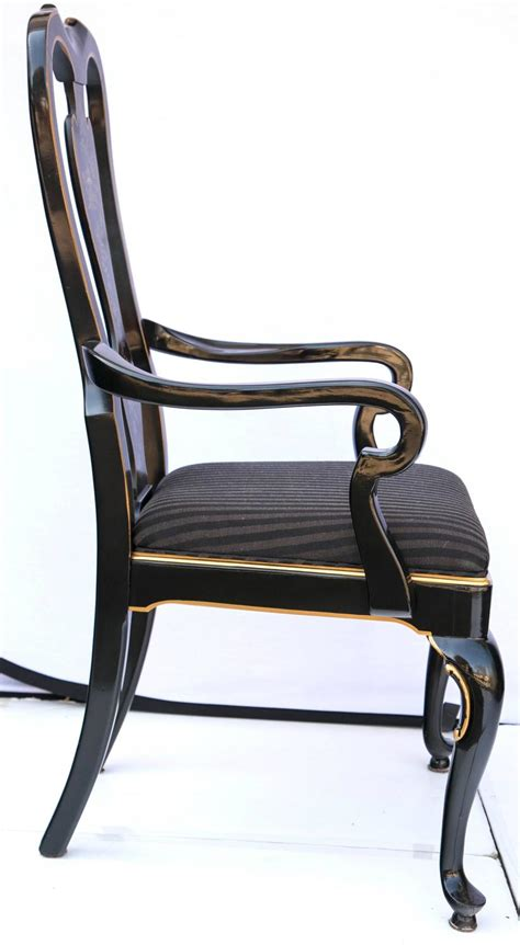 drexel heritage dining room chairs set of six drexel heritage black laquered chinoiserie